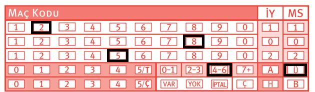 iddaa 3.5 üst işaretleme